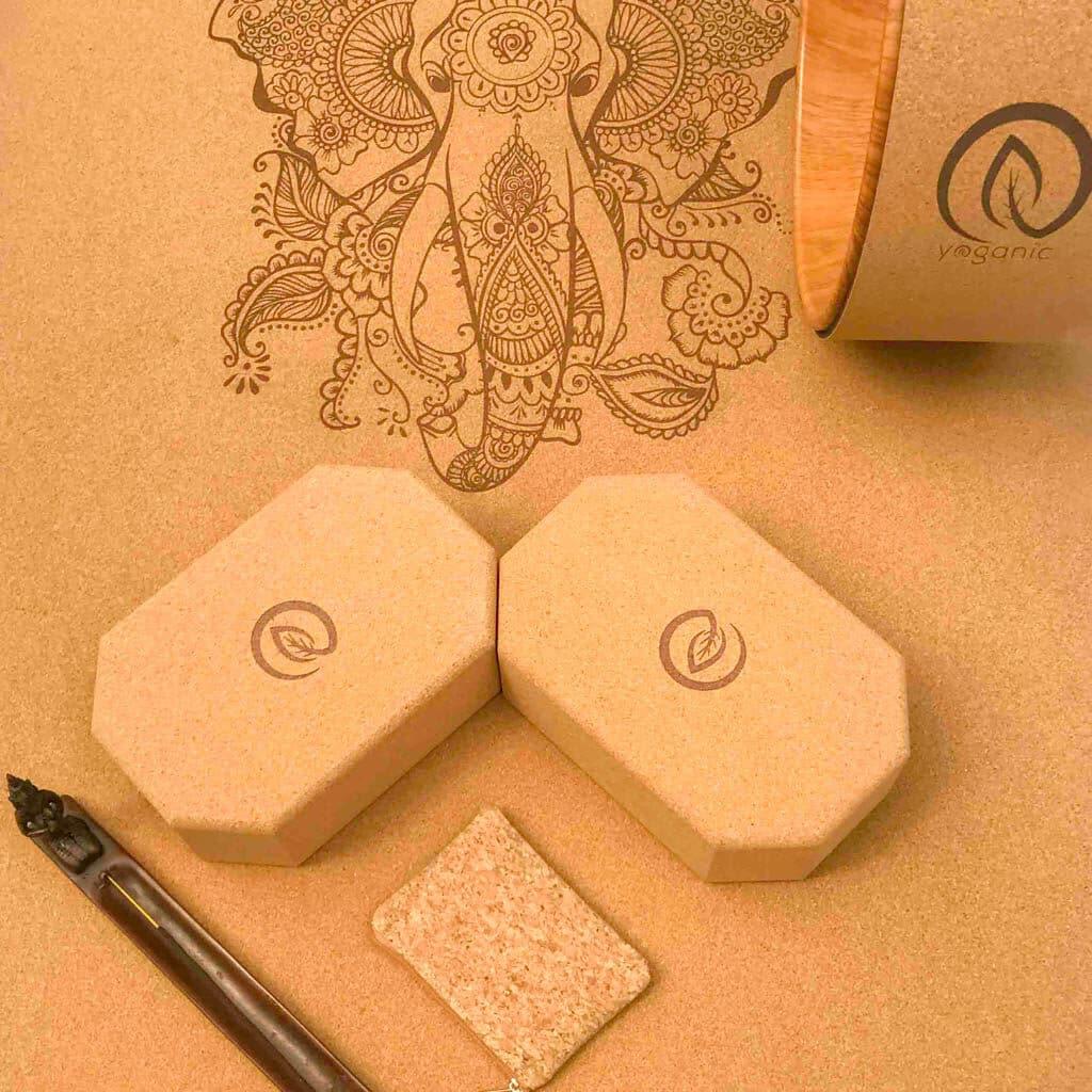 parafa jógatégla Ganesha jógaszőnyeg parafa